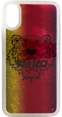 Kenzo Multicolor Glitter Tiger Head iPhone X/XS Case