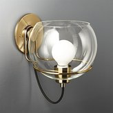 CB2 Rest Large Clear Glass Wall Sconce