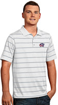 Antigua Men's Columbus Blue Jackets Deluxe Striped Desert Dry Xtra-Lite Performance Polo