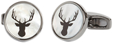 Simon Carter Mother Of Pearl Stag Cufflinks, Grey