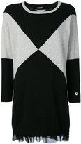 Twin-Set knitted graphic dress - women - Polyamide/Viscose/Cashmere/Wool - XS