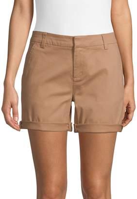 Lord & Taylor Folded Cuff High-Rise Shorts