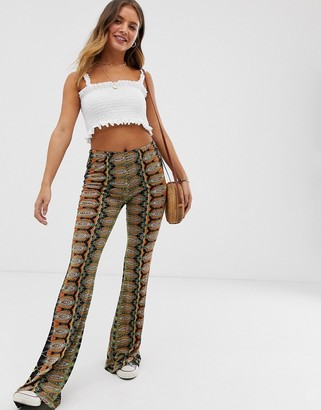 Raga Mystic Bell printed flared trousers