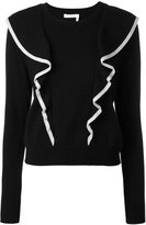 Chloé ruffled sweater - women - Cotton/Cashmere - M