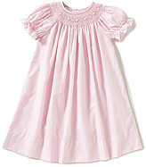 Edgehill Collection Little Girls 2T-4T Embroidered Floral Smocked Dress