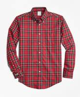 Brooks Brothers Non-Iron Regent Fit Royal Stewart Tartan Sport Shirt