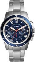 Fossil Men's Chronograph Grant Sport Stainless Steel Bracelet Watch 44mm FS5238