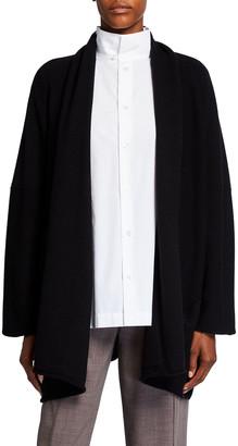 eskandar Shawl Collar Silk/Cashmere Cardigan