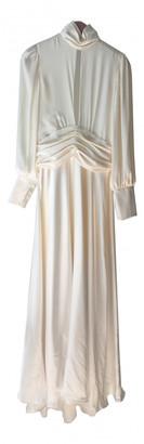 Orseund Iris White Silk Dresses