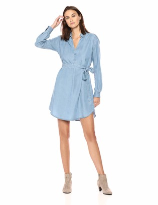 Daily Ritual Amazon Brand Women's Tencel Henley Dress