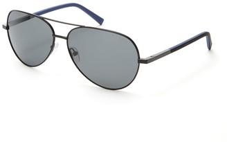 Ted Baker 60mm Aviator Polarized Sunglasses