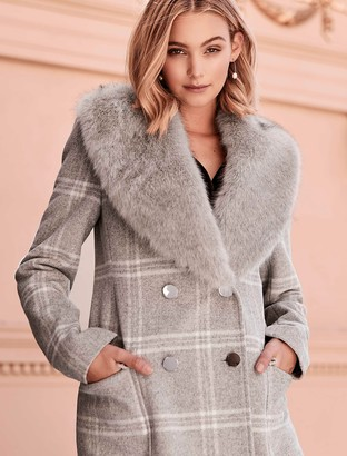 Forever New Julia Check Coat - Grey Check - 4