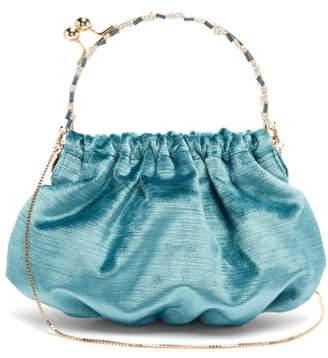 Rosantica Versailles Crystal-embellished Velvet Clutch - Womens - Blue
