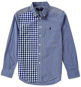 Ralph Lauren Big Boys 8-20 Gingham/Striped Patchwork Poplin Shirt