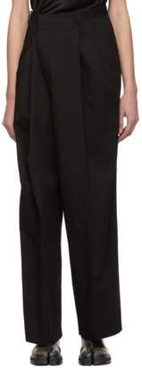 Maison Margiela Black Cotton Asymmetric Trousers