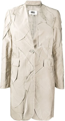 MM6 MAISON MARGIELA Creased-Effect Single Breasted Coat