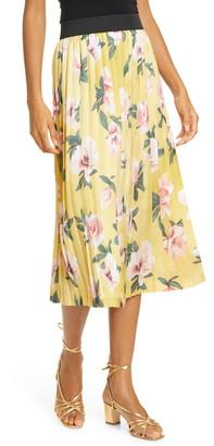 Helene Berman Pleated Satin Skirt