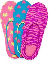 JCPenney Total Girl 3-pk. Printed Liner Socks - Girls