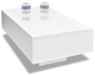"Nocona Wrought Studio Solid Coffee Table Wrought Studio Color: White, Size: 12.2"" H x 33.46"" L x 21.65"" W"