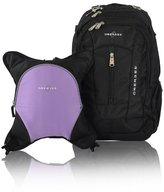Obersee Bern Diaper Bag Backpack with Detachable Cooler, Black/Purple by Obersee