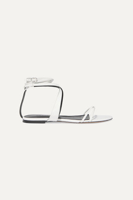 Isabel Marant Afby Glossed-leather Sandals - White