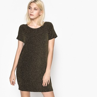 School Rag Plain Short Straight Dress with Short Sleeves