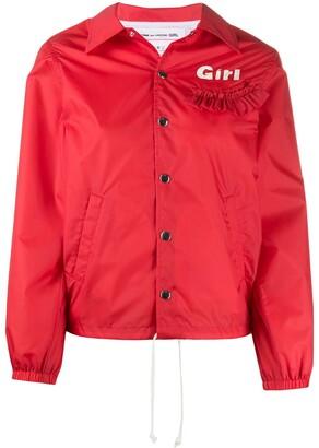 COMME DES GARÇONS GIRL Ruffle Trim Hooded Jacket