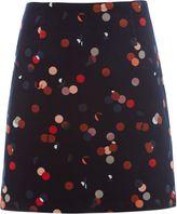 White Stuff Lena Print Velvet Skirt