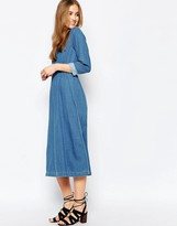 Warehouse Denim Midi Dress