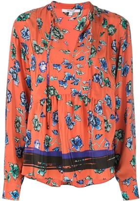 Derek Lam 10 Crosby French floral print peplum blouse
