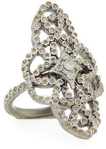 Armenta New World Diamond Scrolls Ring, Size 6.5