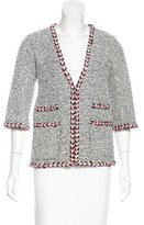 Chanel Braided-Trimmed Bouclé Jacket