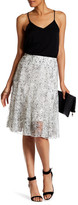Insight Printed Lace Skirt