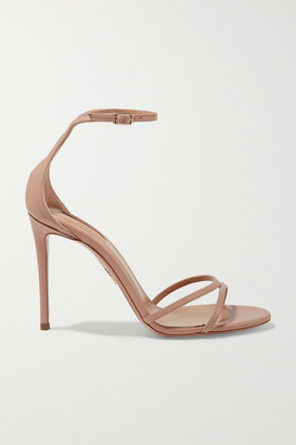 Aquazzura Purist 105 Leather Sandals - Blush