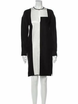 Zero Maria Cornejo Crew Neck Knee-Length Dress w/ Tags Black