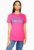 Tommy Hilfiger Womens Pink Collegiate T-Shirt By Tommy Jeans - Pink