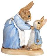 Beatrix Potter Mrs Rabbit and Peter Figurine
