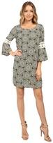 Christin Michaels Lexington Crochet Sleeve Dress