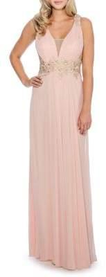 Decode 1.8 Lace Applique Long Gown