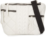 Cynthia Vincent Hunny Quilted Crossbody Bag, White Matte