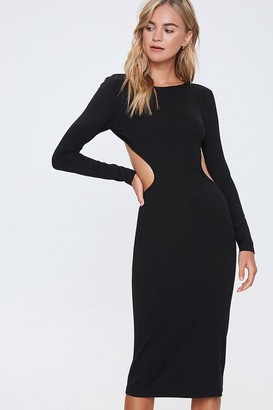 Forever 21 Open-Back Bodycon Midi Dress