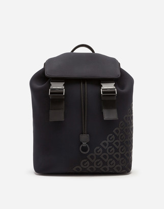 Dolce & Gabbana Millennials Logo Backpack In Neoprene With Rubberized
