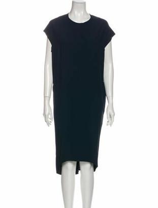 Zero Maria Cornejo Crew Neck Midi Length Dress Blue