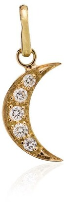 Gigi Clozeau 18kt Yellow Gold Crescent Moon Diamond Charm