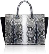 Amanda Wakeley Eastwood Midnight Python Handbag
