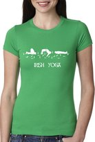 Crazy Dog T-shirts Crazy Dog Tshirts Womens Irish Yoga T Shirt Funny Saint Patricks Day Drinking Tee For Women M