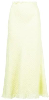 Alexander Wang Frayed Midi Skirt