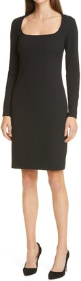 HUGO BOSS Dineka Long Sleeve Sheath Dress