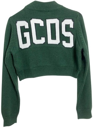 GCDS Green Wool Knitwear for Women