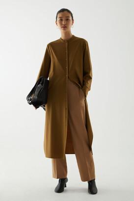 Cos Wool Oversized Shirt Dress